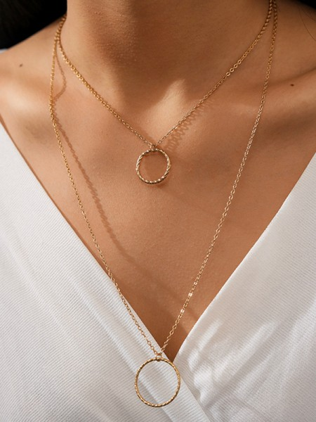 Simple Alloy Hot Sale Necklaces For Women