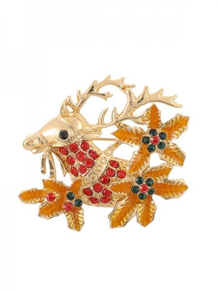 Christmas Awesome Alloy With Rhinestone Brooches