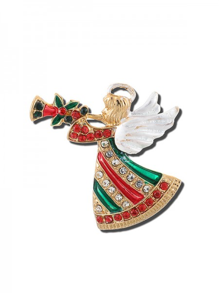 Christmas Fancy Alloy With Rhinestone Brooches