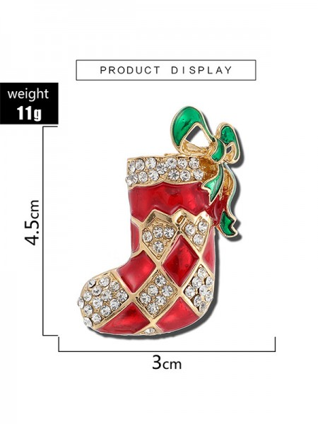 Christmas Lovely Alloy With Rhinestone Brooches