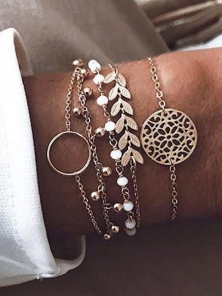 Charming Alloy Bracelets(5 Pieces)