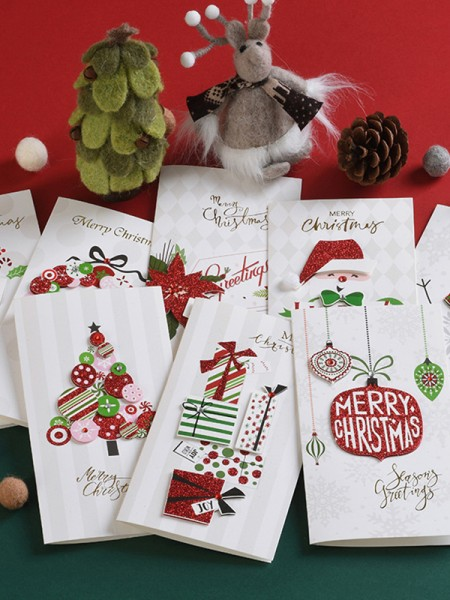 Unique Snowman Christmas Cards(64 Pieces)