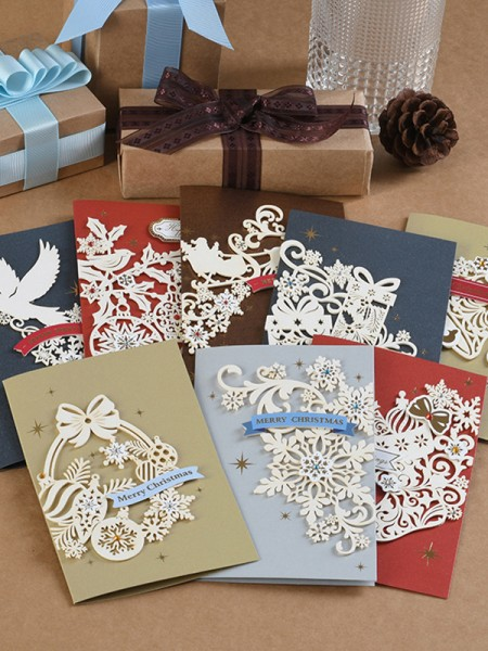 Hot Sale Flower Christmas Cards(64 Pieces)