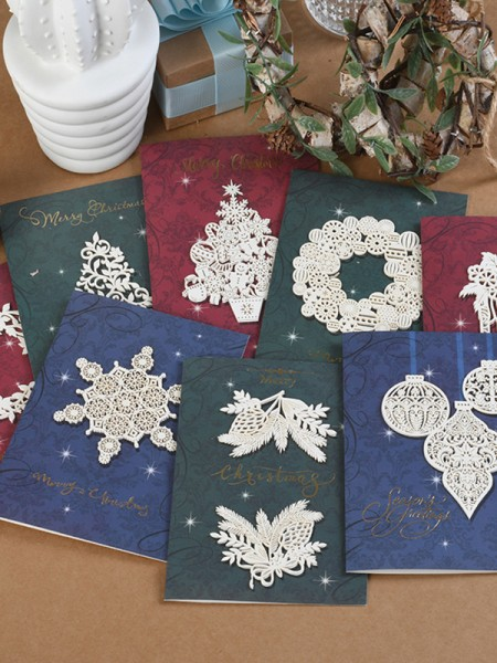 New Hot Flower Christmas Cards(64 Pieces)
