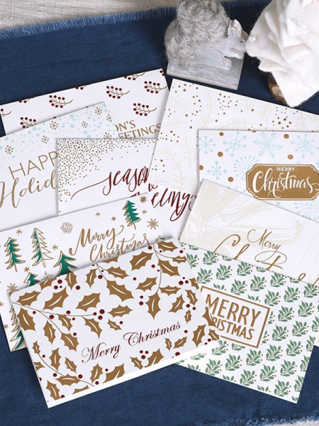 Elegant Flower Christmas Cards(81 Pieces)