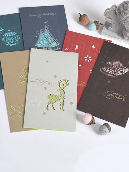 Chic Deer Christmas Cards(36 Pieces)