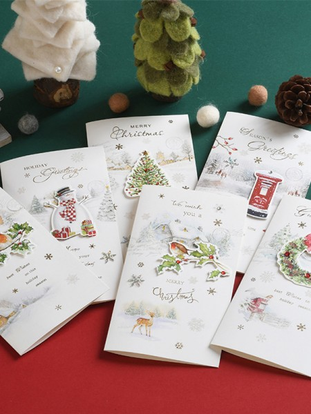 Lovely Snowman Christmas Cards(36 Pieces)