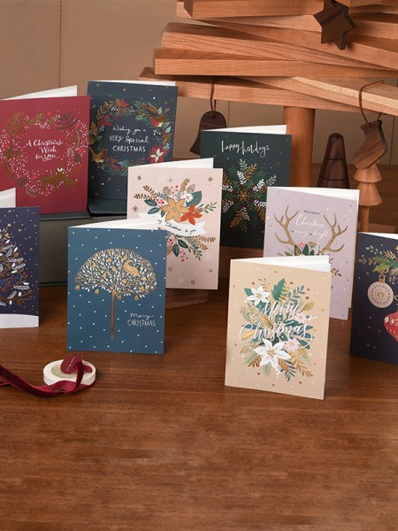 Unique Flower Christmas Cards(81 Pieces)