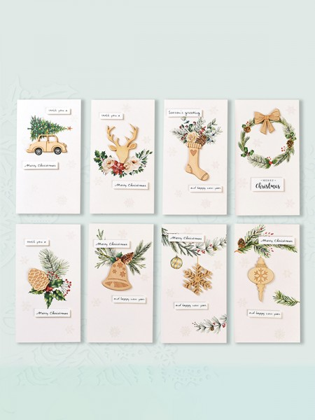 Magical Deer Christmas Cards(64 Pieces)