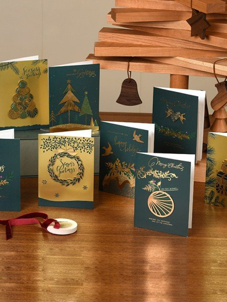 Unique Tree Christmas Cards(64 Pieces)