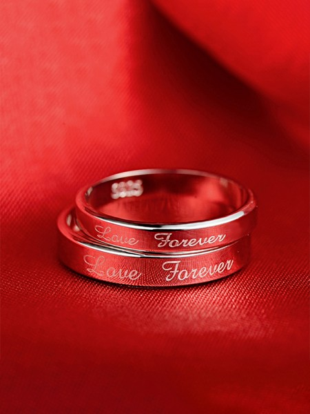 Elegant S925 Silver Hot Sale Couple Rings