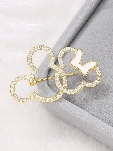 Lovely Rhinestone Ladies' Brooch