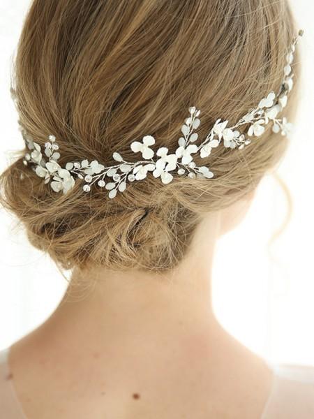 Elegant Alloy With Flower Headbands Headpieces
