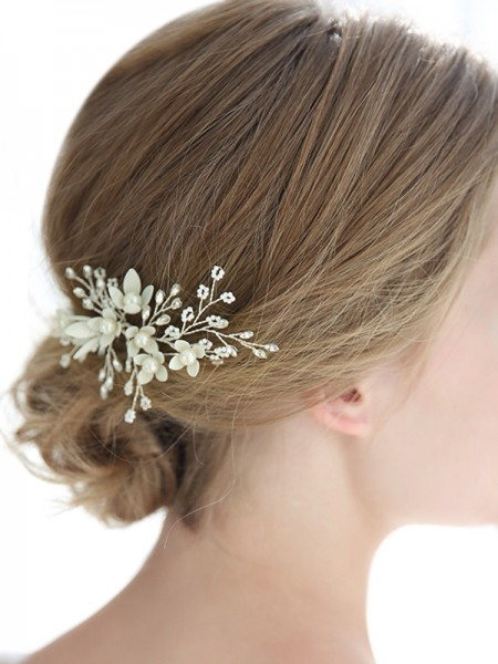 Pretty Alloy With Crystal/Imitation Pearl Hairpins Headpieces