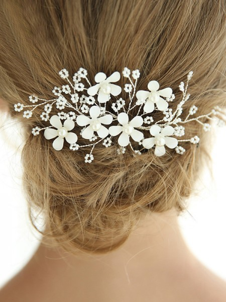 New Style Alloy With Imitation Pearl Hairpins Headpieces