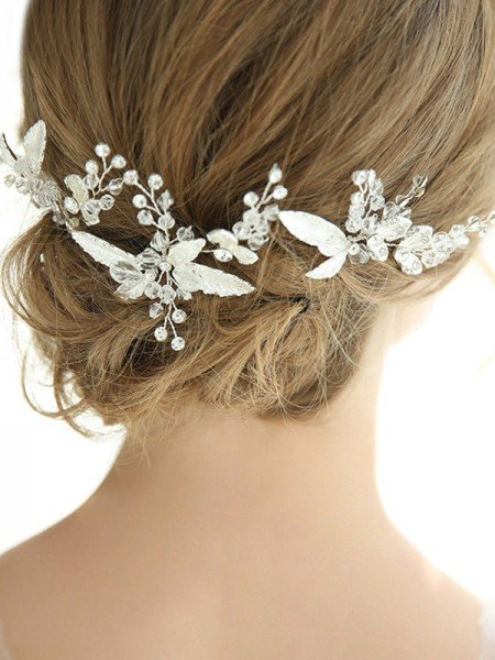 Shinning Alloy With Rhinestone Hairpins Headpieces