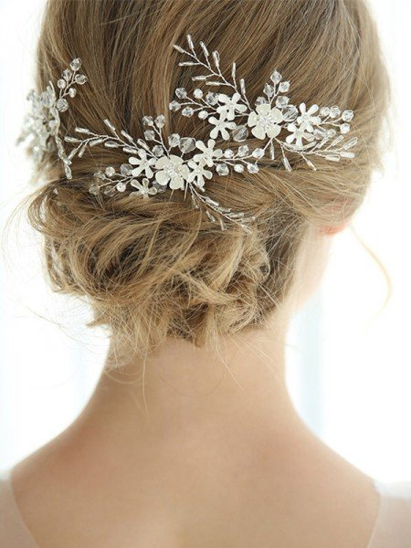 Stunning Alloy With Crystal Hairpins Headpieces