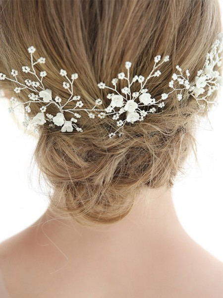 Fancy Alloy With Imitation Pearl Hairpins Headpieces