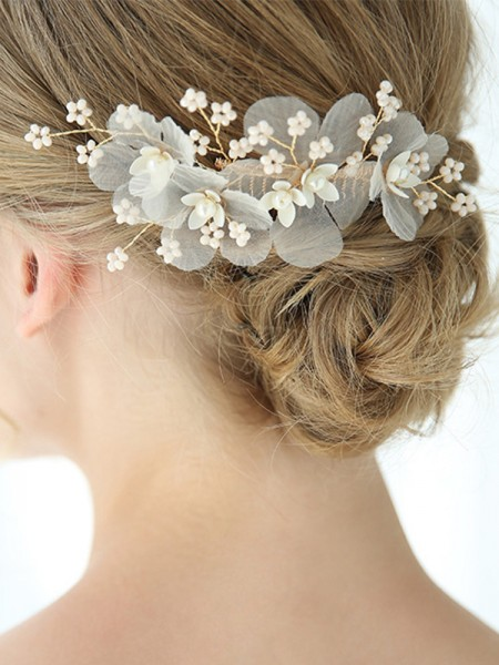 Beautiful Alloy With Imitation Pearl Hairpins Headpieces