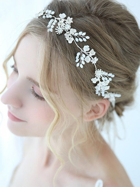 Beautiful Alloy With Pearl Headbands Headpieces