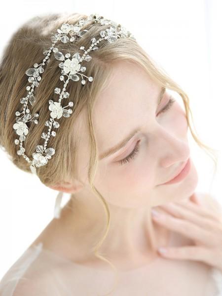 Graceful Alloy With Crystal Headbands Headpieces