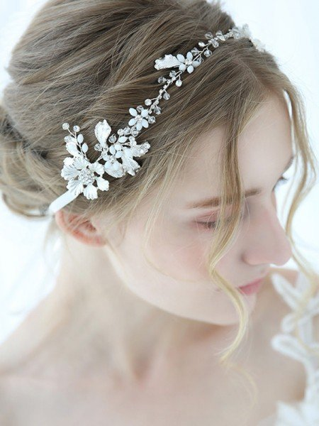 Brilliant Alloy With Crystal Headbands Headpieces
