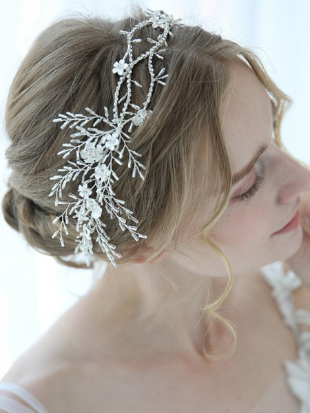 Elegant Alloy With Flower Headbands Headpieces
