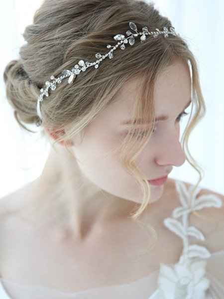 Fashion Alloy With Crystal Headbands Headpieces