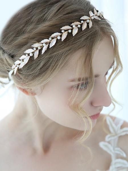 Stunning Alloy With Imitation Pearl Headbands Headpieces