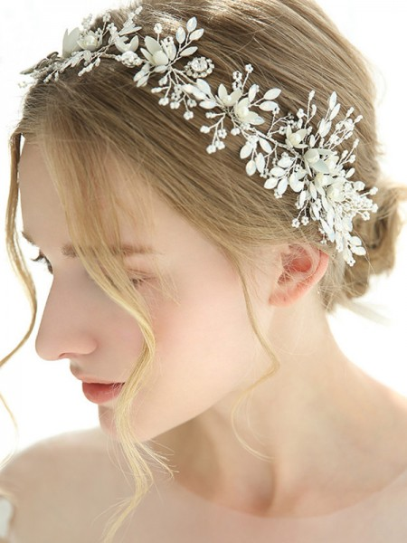 Fascinating Alloy With Crystal Headbands Headpieces