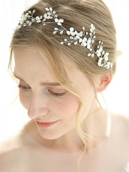Awesome Alloy With Crystal Headbands Headpieces