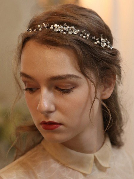 Awesome Alloy With Imitation Pearl Headbands Headpieces