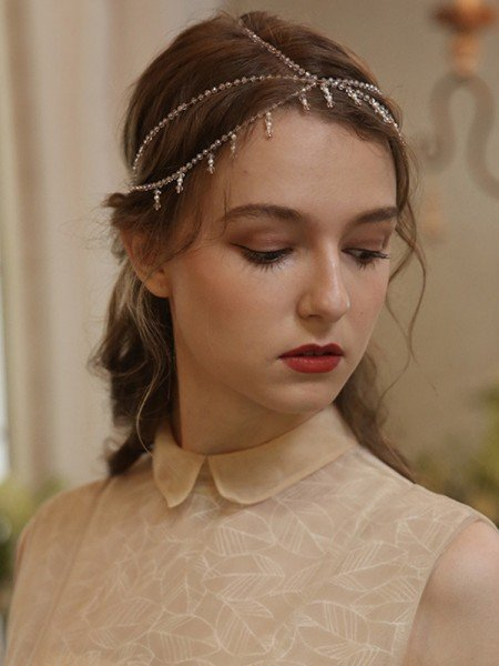 Beautiful Alloy With Crystal Headbands Headpieces