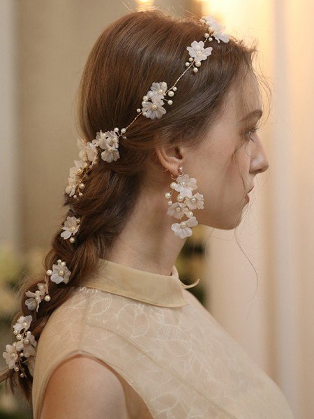 Graceful Alloy With Imitation Pearl/Flower Headbands Headpieces