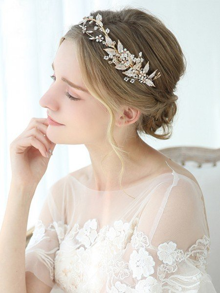 Exquisite Alloy With Crystal Headbands Headpieces