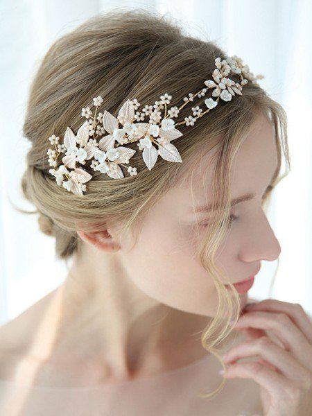 Trendy Alloy With Flower Headbands Headpieces