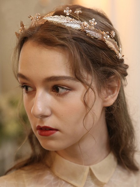 Fancy Alloy With Imitation Pearl Tiaras Headpieces