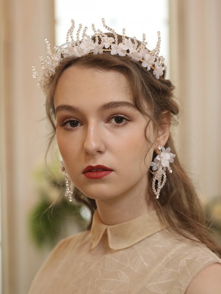 Graceful Alloy With Cloth Tiaras Headpieces