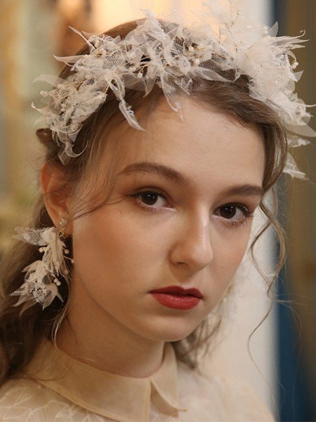 Fascinating Alloy With Imitation Pearl Tiaras Headpieces