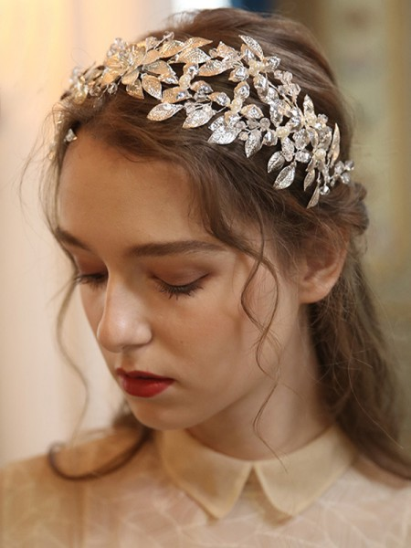 Glamorous Alloy With Crystal/Imitation Pearl Tiaras Headpieces