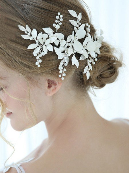 Fashion Alloy With Imitation Pearl Combs&Barrettes Headpieces