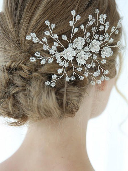 Perfect Alloy With Crystal Combs&Barrettes Headpieces
