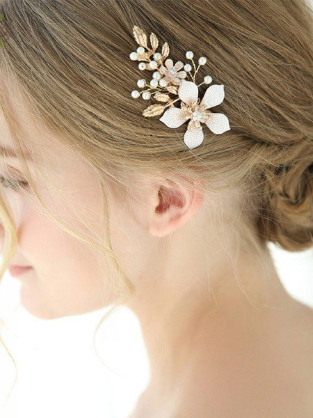 Glamorous Alloy With Imitation Pearl/Flower Combs&Barrettes Headpieces