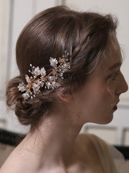 Special Alloy With Rhinestone Combs&Barrettes Headpieces