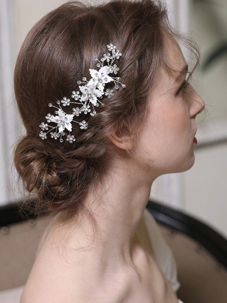 Bonny Alloy With Rhinestone Combs&Barrettes Headpieces