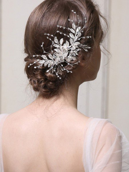 Pretty With Rhinestone Alloy Combs&Barrettes Headpieces