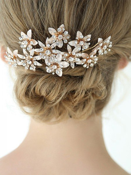 Trending Alloy With Rhinestone Combs&Barrettes Headpieces