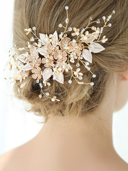 Graceful With Flower Alloy Combs&Barrettes Headpieces
