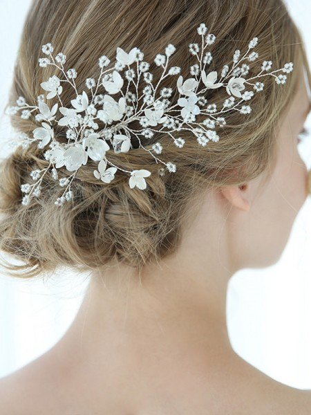 Personalized With Flower Alloy Combs&Barrettes Headpieces