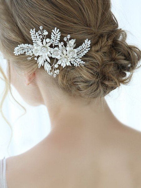 Trending With Flower Alloy Combs&Barrettes Headpieces